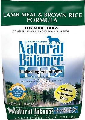 Natural Balance L.I.D. Limited Ingredient Diets Lamb Meal & Brown Rice Formula Dry Dog Food, 4.5-lb bag