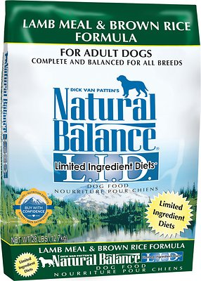 Natural Balance L.I.D. Limited Ingredient Diets Lamb Meal & Brown Rice Formula Dry Dog Food, 28-lb bag Size: 28-lb bag, Weights: 28.0 pounds