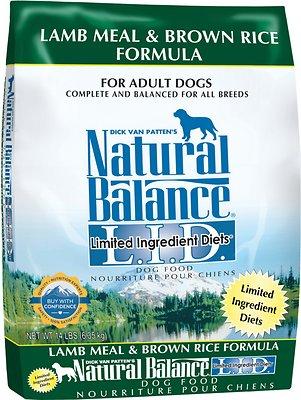 Natural Balance L.I.D. Limited Ingredient Diets Lamb Meal & Brown Rice Formula Dry Dog Food, 14-lb bag