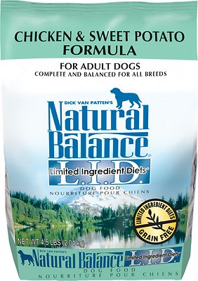 Natural Balance L.I.D. Limited Ingredient Diets Chicken & Sweet Potato Formula Grain-Free Adult Dry Dog Food, 4.5-lb bag