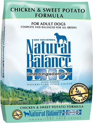 Natural Balance L.I.D. Limited Ingredient Diets Chicken & Sweet Potato Formula Grain-Free  Adult Dry Dog Food, 13-lb bag