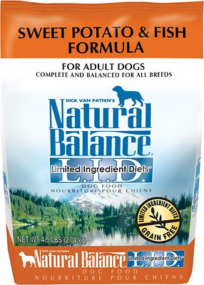 Natural Balance L.I.D. Limited Ingredient Diets Sweet Potato & Fish Formula Adult Grain-Free Dry Dog Food, 4.5-lb bag