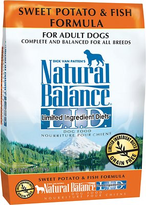 Natural Balance L.I.D. Limited Ingredient Diets Sweet Potato & Fish Formula Adult Grain-Free Dry Dog Food, 26-lb bag