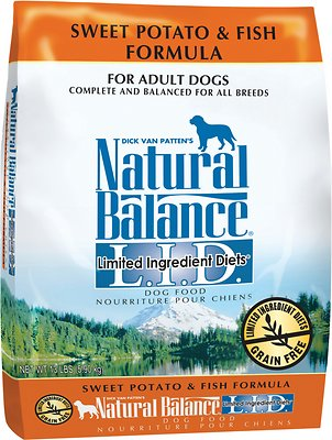Natural Balance L.I.D. Limited Ingredient Diets Sweet Potato & Fish Formula Adult Grain-Free Dry Dog Food, 13-lb bag