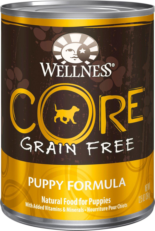 Wellness CORE Grain-Free Puppy Formula Canned Dog Food, 12.5-oz