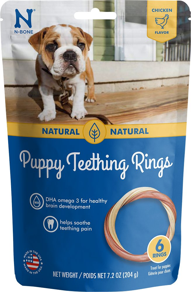 N-Bone Puppy Teething Ring Chicken Flavor Dog Treats