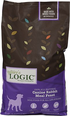 Nature's Logic Canine Rabbit Meal Feast Dry Dog Food, 15.4-lb bag