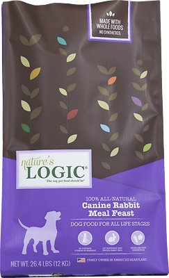 Nature's Logic Canine Rabbit Meal Feast Dry Dog Food, 26.4-lb bag
