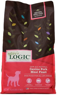 Nature's Logic Canine Pork Meal Feast Dry Dog Food, 15.4 lb bag