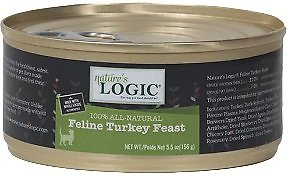 Nature's Logic Feline Turkey Feast Grain-Free Canned Cat Food, 5.5-oz