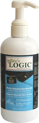 Nature's Logic North Atlantic Sardine Oil Dog & Cat Supplement, 16-oz bottle