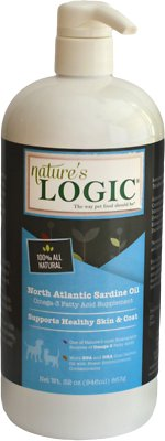 Nature's Logic North Atlantic Sardine Oil Dog & Cat Supplement, 32-oz bottle
