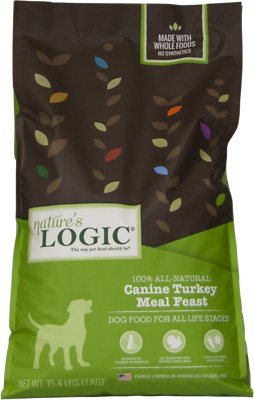 Nature's Logic Canine Turkey Meal Feast Dry Dog Food, 15.4-lb bag