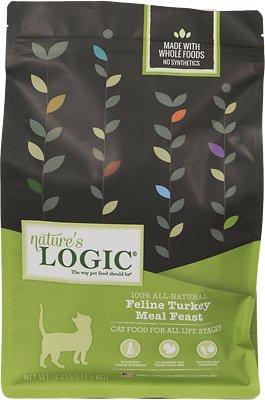Nature's Logic Feline Turkey Meal Feast Dry Cat Food, 3.3-lb bag