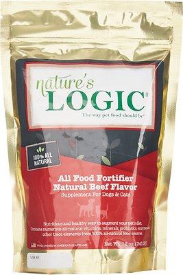 Nature's Logic All Food Fortifier Beef Flavor Dog & Cat Supplement, 12-oz bag