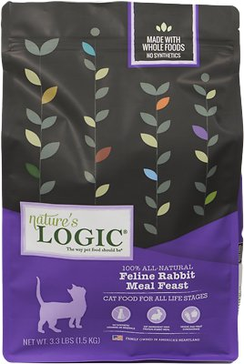 Nature's Logic Feline Rabbit Meal Feast Dry Cat Food, 3.3-lb bag