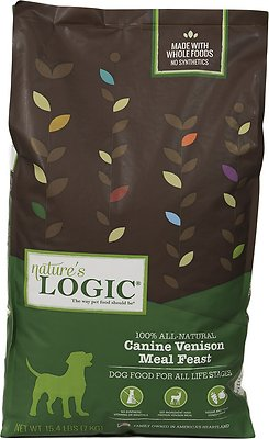 Nature's Logic Canine Venison Meal Feast Dry Dog Food, 15.4-lb bag