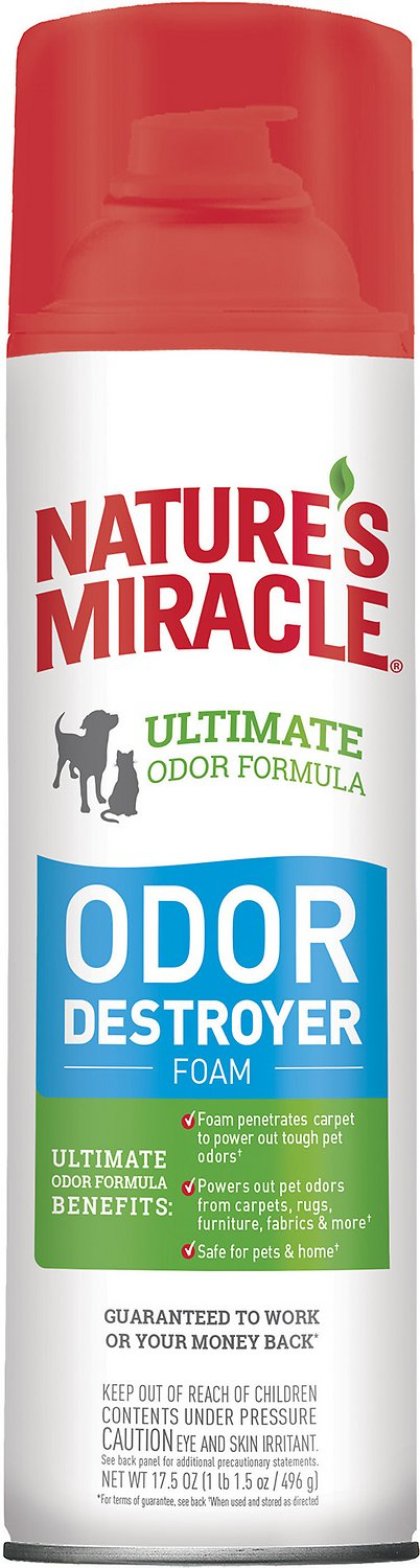 Nature's Miracle Dog Odor Destroyer, Foam Aerosol Spray, 17.5-oz bottle