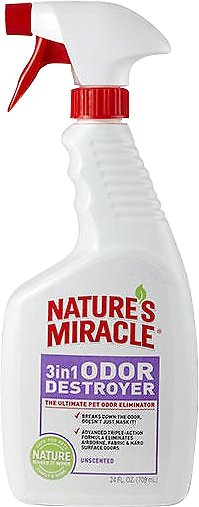 Nature's Miracle Unscented 3 in 1 Odor Destroyer, 24-oz bottle