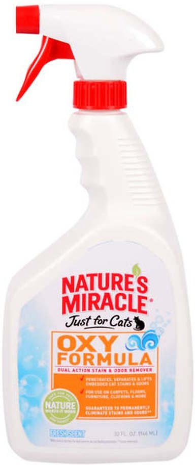 Nature's Miracle Just For Cats Oxy Cat Stain & Odor Scented Remover, 32-oz bottle