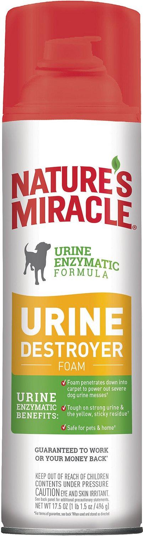 Nature's Miracle Dog Enzymatic Stain Urine Destroyer Foam Aerosol Spray, 17.5-oz bottle