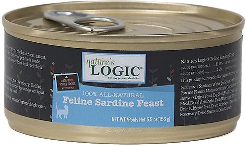 Nature's Logic Feline Sardine Feast Grain-Free Canned Cat Food, 5.5-oz