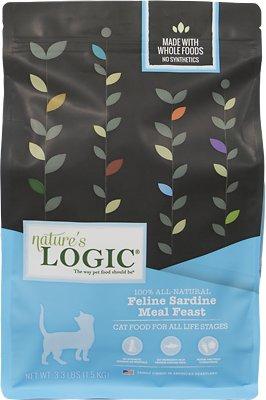 Nature's Logic Feline Sardine Meal Feast Dry Cat Food, 3.3-lb bag