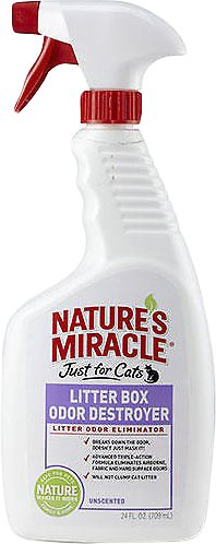 Nature's Miracle Just For Cats Litter Box Odor Destroyer Spray, 24-oz spray