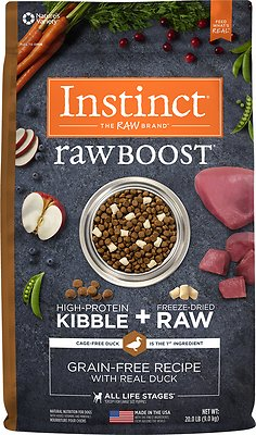 Instinct by Nature's Variety Raw Boost Grain-Free Recipe with Real Duck Dry Dog Food, 20-lb bag