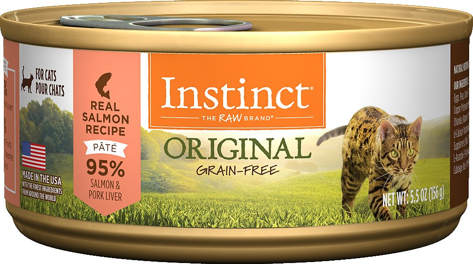 Instinct by Nature's Variety Original Grain-Free Real Salmon Recipe Natural Wet Canned Cat Food, 5.5-oz