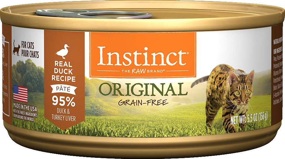 Instinct by Nature's Variety Original Grain-Free Real Duck Recipe Natural Wet Canned Cat Food