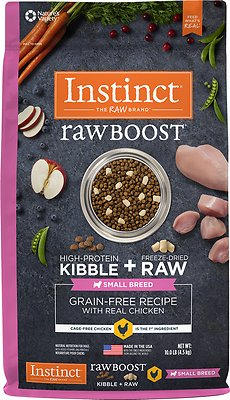 Instinct by Nature's Variety Raw Boost Small Breed Grain-Free Recipe with Real Chicken Dry Dog Food, 10-lb bag