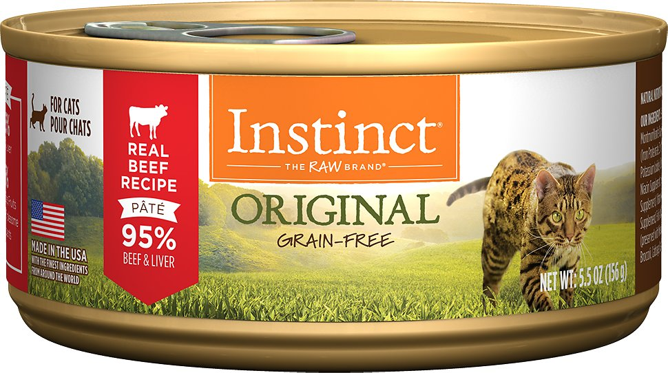 Instinct by Nature's Variety Original Grain-Free Real Beef Recipe Natural Wet Canned Cat Food