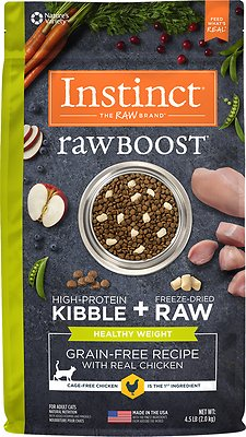 Instinct by Nature's Variety Raw Boost Healthy Weight Grain-Free Chicken Recipe Dry Cat Food