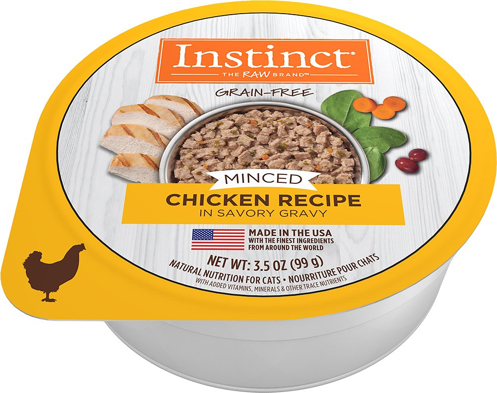 Instinct by Nature's Variety Grain-Free Minced Recipe with Real Chicken Wet Cat Food Cups, 3.5-oz