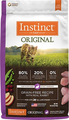 Instinct by Nature's Variety Original Grain-Free Recipe with Real Rabbit Dry Cat Food