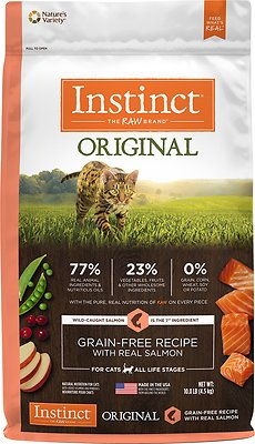 Instinct by Nature's Variety Original Grain-Free Recipe with Real Salmon Dry Cat Food