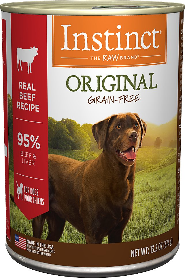 Instinct by Nature's Variety Original Grain-Free Real Beef Recipe Natural Wet Canned Dog Food, 13.2-oz