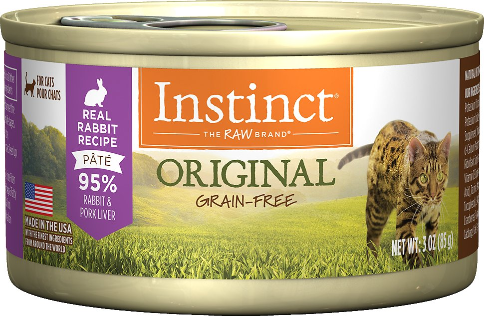 Instinct by Nature's Variety Original Grain-Free Real Rabbit Recipe Natural Wet Canned Cat Food, 3-oz