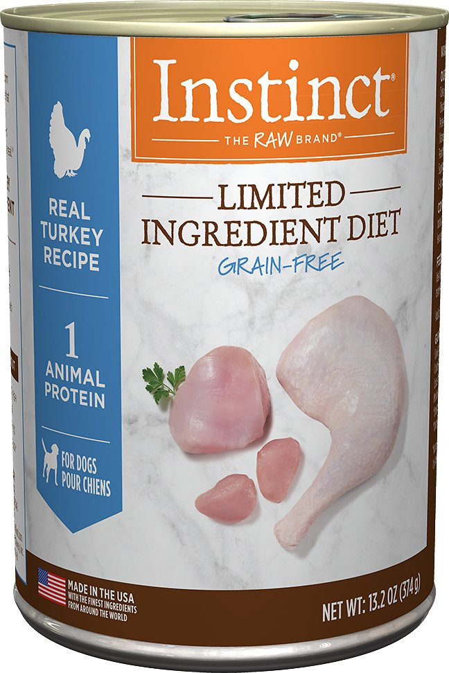Instinct by Nature's Variety Limited Ingredient Diet Grain-Free Real Turkey Recipe Natural Wet Canned Dog Food, 13.2-oz