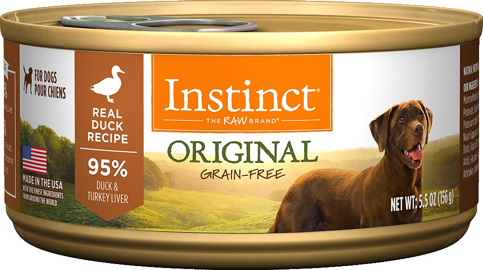Instinct by Nature's Variety Original Grain-Free Real Duck Recipe Natural Wet Canned Dog Food, 13.2-oz