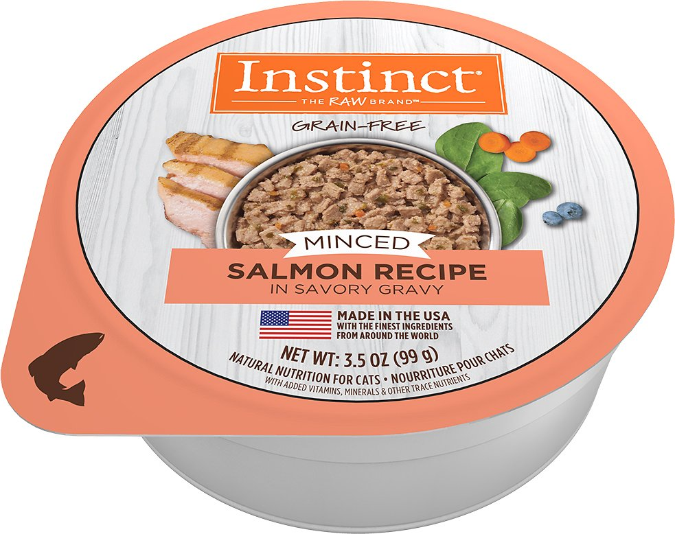 Instinct by Nature's Variety Grain-Free Minced Recipe with Real Salmon Wet Cat Food Cups, 3.5-oz