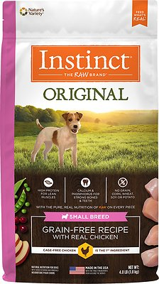 Instinct by Nature's Variety Original Small Breed Grain-Free Recipe with Real Chicken Dry Dog Food, 4-lb bag