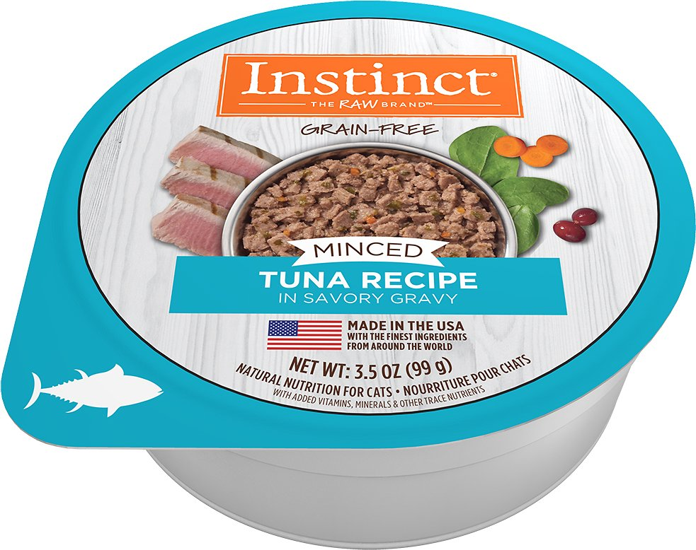 Instinct by Nature's Variety Grain-Free Minced Recipe with Real Tuna Wet Cat Food Cups, 3.5-oz