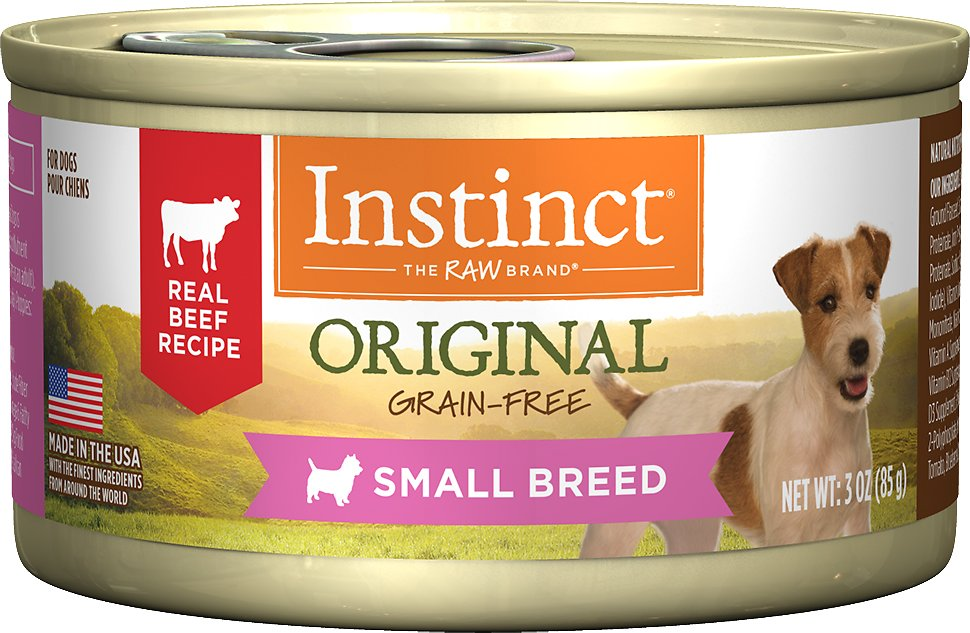 Instinct by Nature's Variety Original Small Breed Grain-Free Real Beef Recipe Natural Wet Canned Dog Food, 3-oz
