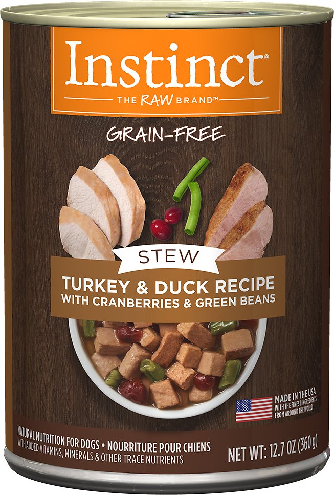 Instinct by Nature's Variety Grain-Free Stews Turkey & Duck Recipe Wet Canned Dog Food, 12.7-oz