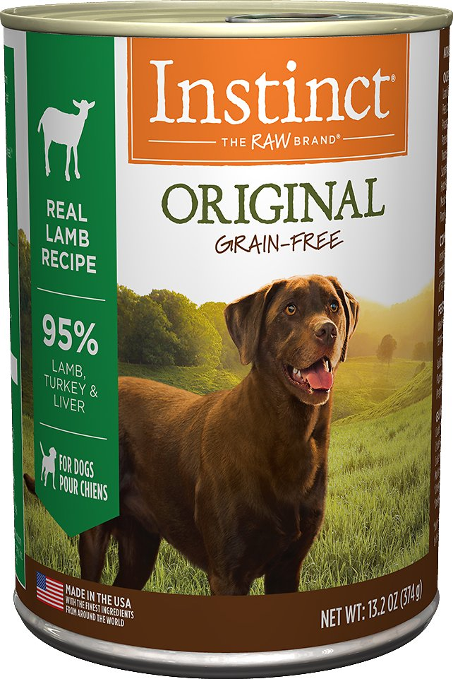 Instinct by Nature's Variety Original Grain-Free Real Lamb Recipe Natural Wet Canned Dog Food, 13.2-oz