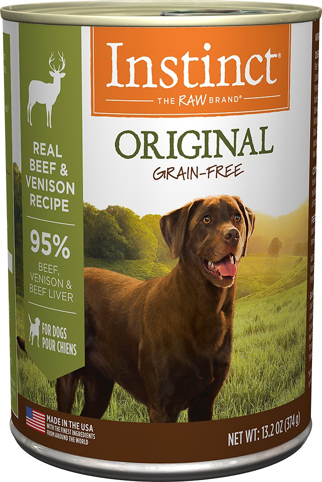 Instinct by Nature's Variety Original Grain-Free Real Beef & Venison Recipe Natural Wet Canned Dog Food