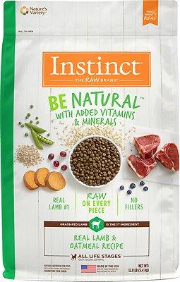 Instinct by Nature's Variety Be Natural Real Lamb & Oatmeal Recipe Dry Dog Food, 12-lb bag