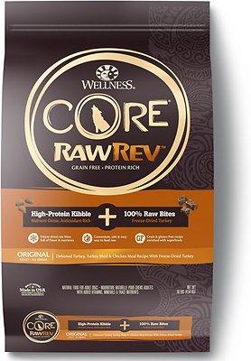 Wellness CORE RawRev Natural Grain-Free Original Turkey & Chicken with Freeze Dried Turkey Dry Dog Food, 10-lb bag